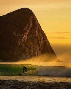 """I """"channelled"""" my inner @chrisburkard when capturing this image of a surfer at Unstad Lofoten on Norway back in early September. Hope you appreciate my humble effort   Join my photography tours with the Arctic DJ Shaq @arildheitmannphotography at www.lofotentours.com  by stianmklo"""