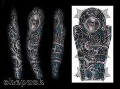 Full bio-mech sleeve by shepush