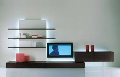 Mueble TV moderno / de madera lacada - NEW CONCEPTS : BASES    - Acerbis International