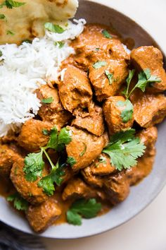This butter chicken—chicken simmered in a velvety, tomato-tinged, Indian-spiced cream sauce—is a cozy autumn dish that is made easy with the help of your slow-cooker. Creamy Chicken Curry, Slow Cooker Chicken Curry, Chicken Spices, How To Cook Chicken, Chicken Recipes, Butter Chicken Sauce, Indian Butter Chicken, Slow Cooker Recipes, Cooking Recipes