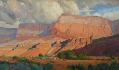 """""""Morning At Vermillion Cliffs"""" by G. Russell Case 18"""" h. X 30"""" w. - Wood River Fine Arts"""