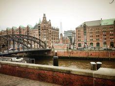 ein schöner Blick auf die Speicherstadt in Hamburg (März 2014)
