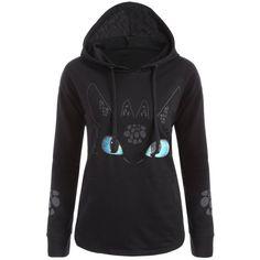 Cartoon Character Unicorn Graphic Hoodie, BLACK, M in Sweatshirts & Hoodies | DressLily.com
