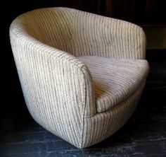 Milo Baughman Swivel/Tilt Tub Chair *SOLD*   White Trash NYC