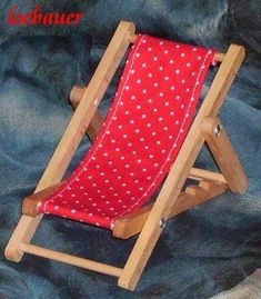 Fancy Liegestuhl rot wei gepunktet