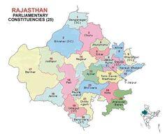 Rajasthan Lok Sabha 2014 Election Constituency Map