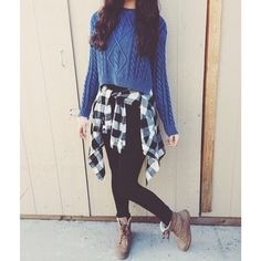 Nice&cozy teen fall fashion outfit. I love how the plaid was incorporated, as its now an even bigger trend.