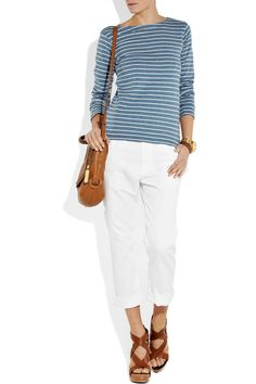 5853558cd96e white jeans and givenchy shoes Boyfriend Fit Jeans