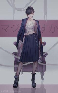 Image about art in Anime/Manga by Kuminami on We Heart It 5 Anime, Chica Anime Manga, Fanarts Anime, Manga Girl, Anime Art Girl, Female Characters, Anime Characters, Fille Anime Cool, Fan Art