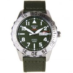 Seiko 5 Sports Automatic SRP751 SRP751K2 Green Nylon Mens Watch