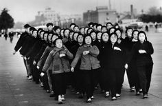 Marc Riboud CHINA. Beijing. Students on Tian An Men square. 1965.