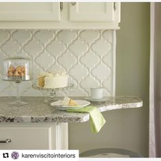 Our Arabesque Tile Makes A Splash With This Backsplash Everything About Photo Is