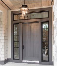 Stanley Doors - 15 Lite Internal Grille Painted Steel Entry Door ...