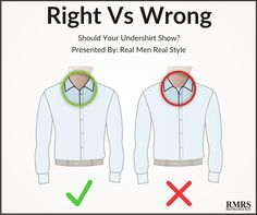 One of the most common questions I get...  is about undershirts.  Should they show? Or not show?  The quick answer?  It's personal preference.  But a more in-depth answer?  Let's look at history.  Back in the 20th-century shirts were always considered underwear.  It was never expose