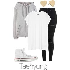 Ideal Type Fashion: Taehyung by btsoutfits on Polyvore featuring Oak, T By…