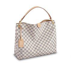 Products by Louis Vuitton: Graceful MM White Louis Vuitton Bag, Louis Vuitton Handbags, Purses And Handbags, Louis Vuitton Monogram, Most Expensive Handbags, Luxury Handbag Brands, Canvas Handbags, How To Make Handbags, Louis Vuitton Neverfull