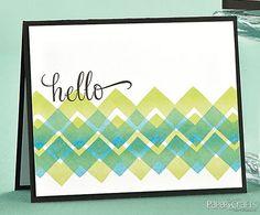 Zigzag Hello Card by @Laura Bassen