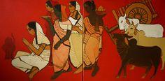Puja - Painting by Siddharth Shingade