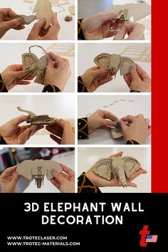Trunk? Check. Tusks? Check. Big ears? Check. We made this elephant on our 120 watt Speedy 360. Check out our step-by-step tutorial with FREE graphics files! #troteclaser Trotec Laser, Elephant Wall Decor, Free Graphics, 3d Wall, Ears, Big, Check