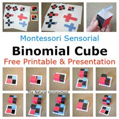 Here is the Binomial Cube, which is a visual and tactile work. You will see a step-by-step presentation and a free printable for you! Montessori Kindergarten, Montessori Homeschool, Montessori Elementary, Montessori Classroom, Montessori Practical Life, Montessori Toddler, Montessori Activities, Homeschooling, Upper Elementary
