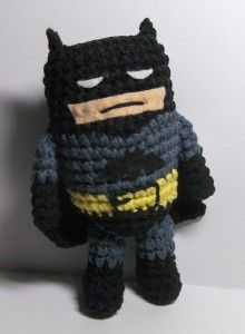 Amigurumi Batman is not amused