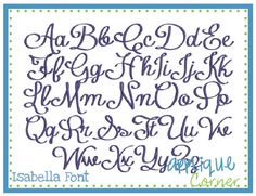 Isabella Embroidery Font