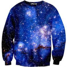 ☮♡ Blue Galaxy Sweater ✞☆ (sexy sweaters)