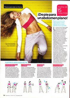 Abdomen Plano en 15 min. (diarios) Womans Health México, Diciembre 2011