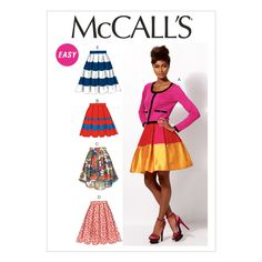 Misses Skirts and Petticoat McCalls Pattern 6706.