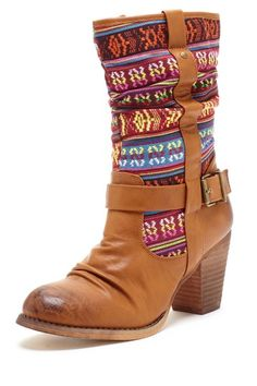 Bucco Peony Tribal Print Boot by Boots Under $75 on @HauteLook