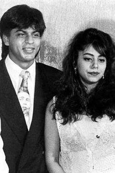 Embedded image permalink-Bollywood Flashback: Shah Rukh Khan with Gauri Khan. Bollywood Stars, Bollywood Couples, Bollywood Photos, Bollywood News, Bollywood Actress, Shahrukh Khan Family, Abram Khan, Photo Romance, Star Wars