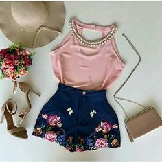 Different shoes and not the hat Short Outfits, Trendy Outfits, Dress Outfits, Cool Outfits, Summer Outfits, Look Fashion, Teen Fashion, Fashion Outfits, Womens Fashion