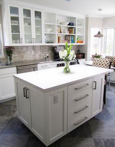 Marsh And Clark Kitchens Light Gray Cabinets Light Gray Kitchen Cabinets White Quartz Countertops Marble Herringbone Backsplash Marb