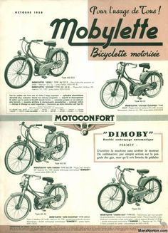 Classic French Motorcycles & Mopeds to Triumph Motorcycles, Small Motorcycles, Vintage Motorcycles, Bike Poster, Motorcycle Posters, Car Posters, Vespa Vintage, Vintage Bikes, Classic Vespa