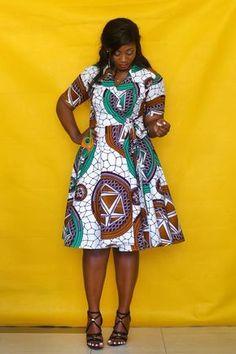 African Ankara designs for the ladies - DarlingNaija African Fashion Designers, African Fashion Ankara, Latest African Fashion Dresses, African Print Fashion, Short African Dresses, African Print Dresses, Short Sleeve Dresses, African Attire Patterns, Ankara Designs