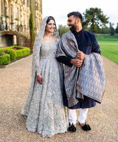 muslim wedding gowns with hijab Wedding Outfits For Groom, Pakistani Wedding Outfits, Pakistani Wedding Dresses, Bridal Outfits, Indian Dresses, Wedding Hijab, Indian Outfits, Wedding Gowns, Backless Wedding