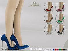 The Sims Resource: Madlen Nosferatu Shoes by MJ95 • Sims 4 Downloads