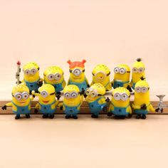 NEW Cute Despicable Me 2 minions Movie Character Figures Doll Toy set of 12pcs #UnbrandedGeneric