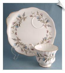 Royal Albert BRIGADOON Tea Cup & Snack Plate Set