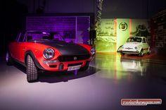 Fiat 124 Abarth und Fiat-Abarth 595 EsseEsse bei der Eröffnung von Abarth Classiche:   Foto © Abarth