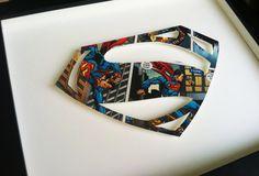FRAMED custom superhero ICON by spottedflats on Etsy, $50.00
