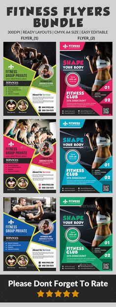 Fitness Flyer - Gym Flyer Bundle Gym, Fitness and Sports - fitness flyer
