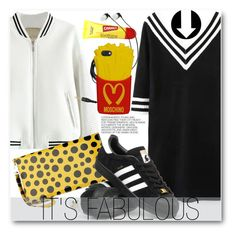"""""""It's fabulous"""" by stylemoi-offical ❤ liked on Polyvore featuring Hedi Slimane, adidas, Moschino and stylemoi"""