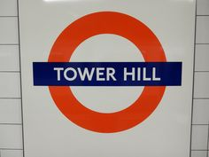 Tower Hill London Underground Station in Tower Hill, Greater London London Underground Train, London Underground Stations, Tower Hill London, London Wall, Greater London, Chicago Cubs Logo, Sunny Days, Four Square, Britain