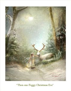 Fairy art print gift Christmas art Print - Then one Foggy Christmas Eve when matted Art And Illustration, Illustrations, Christmas Fairy, Christmas Eve, Retro Christmas, Christmas Christmas, Fairy Gifts, Fairy Pictures, Egg Pictures