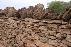 Stone wall, part of Overland Telegraph Station c. 1880, South Australia