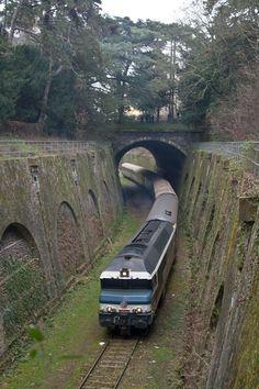 train on Petite Ceinture - Paris 2012