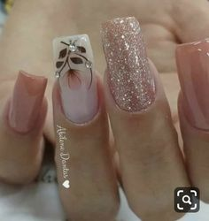 19 fabulous pink nail art designs ideas that looks cool 2 Square Nail Designs, Cute Nail Designs, Gorgeous Nails, Fabulous Nails, Bling Nails, My Nails, Cute Nails, Pretty Nails, Nagel Bling