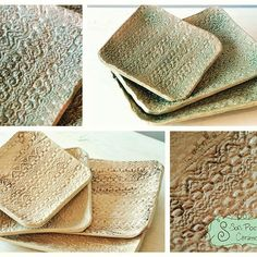 Bandejitas Puntilla!!  Para servir lo que se te ocurra! Dulce y Salado!!! #ceramica #sofipocetticeramica #deco #bandejitas #modelado…