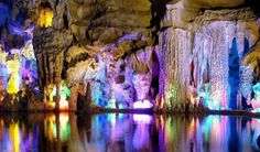 An underground lake or a subterranean lake is a lake under the surface of the Earth's crust. Far below the Earth's surface, where the sun rarely penetrates, is a world of twinkling glow worms.